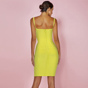 Strappy Sleeveless Plain Over Knee Bandage Dress PF19076 2 in wolddress