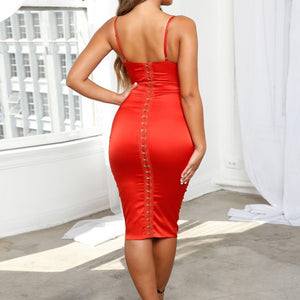 Strappy Sleeveless Over Knee Bandage Dress PF19107 3 in wolddress