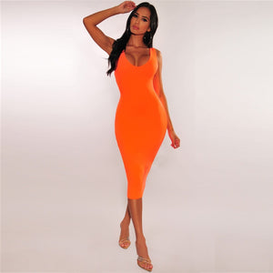 Round Neck Sleeveless Elegant Over Knee Bandage Dress PF19110 1 in wolddress