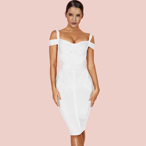 Strappy Short Sleeve Striped Over Knee Bandage Dress PF19168 14 in wolddress