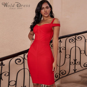 Strappy Short Sleeve Striped Over Knee Bandage Dress PF19168 1 in wolddress