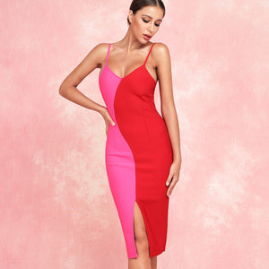 Strappy Sleeveless Slit Over Knee Bandage Dress PF19172 1 in wolddress