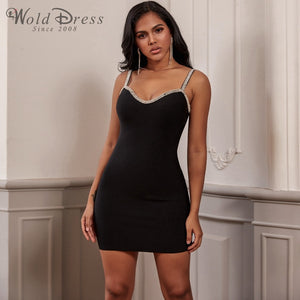 Strappy Sleeveless Rhinestone Mini Bandage Dress PF19248 1 in wolddress