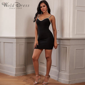 Strappy Sleeveless Rhinestone Mini Bandage Dress PF19248 3 in wolddress