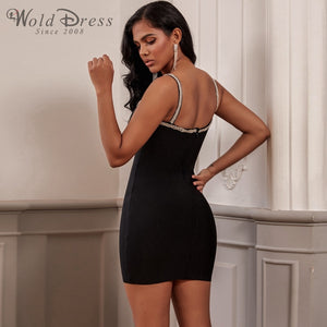 Strappy Sleeveless Rhinestone Mini Bandage Dress PF19248 2 in wolddress