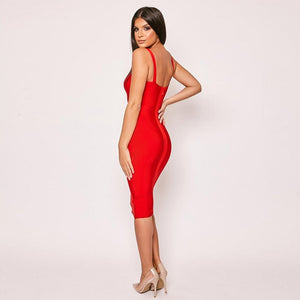Sleeveless Cut Out Over Knee Bandage Dress PF19318 3 in wolddress