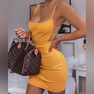 Strappy Sleeveless Hollow Out Mini Bandage Dress PM0402 5 in wolddress