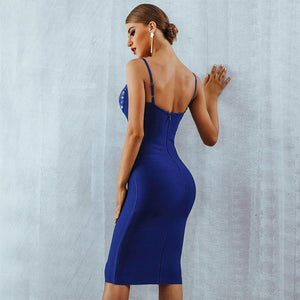 Strappy Sleeveless Lace Over Knee Bandage Dress PM0502 6 in wolddress