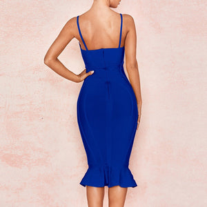 Strappy Sleeveless Fishtail Over Knee Bandage Dress PP19123 9 in wolddress