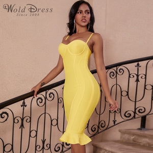 Strappy Sleeveless Fishtail Over Knee Bandage Dress PP19123 1 in wolddress
