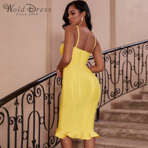 Strappy Sleeveless Fishtail Over Knee Bandage Dress PP19123 2 in wolddress
