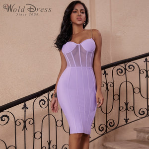 Strappy Sleeveless Striped Over Knee Bandage Dress PP19138 1 in wolddress
