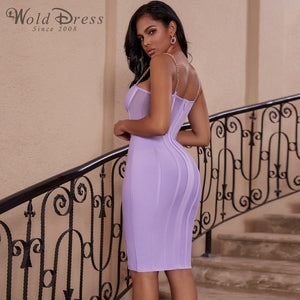 Strappy Sleeveless Striped Over Knee Bandage Dress PP19138 2 in wolddress