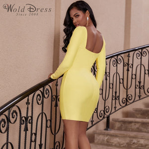 Strappy Long Sleeve Backless Mini Bandage Dress PP19159 2 in wolddress