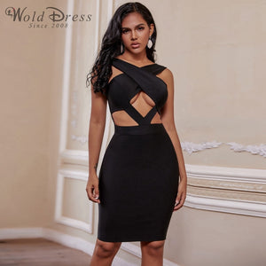 Halter Sleeveless Hollow Out Mini Bandage Dress PP19188 1 in wolddress