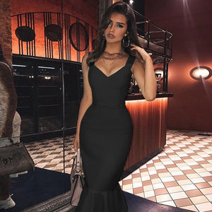 Fishtail Over Knee Bandage Dress PP19352 9 in wolddress
