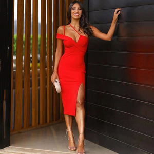 Sleeveless Asymmetrical Slit Bandage Dress PP19369 1 in wolddress