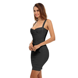 Strappy Sleeveless Striped Mini Bandage Dress PQH437 14 in wolddress