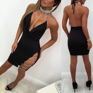 Sexy Crystal Straps Mini Dress 8 in wolddress