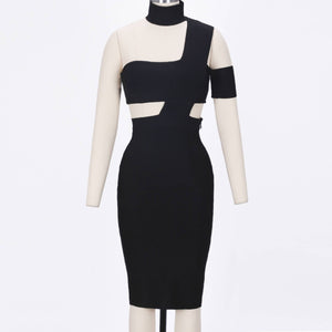 Halter Sleeveless Cut out Midi Bandage Dress SP015 4 in wolddress