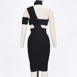 Halter Sleeveless Cut out Midi Bandage Dress SP015 6 in wolddress