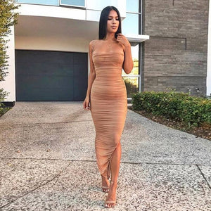 Strappy Sleeveless Mesh Maxi Bandage Dress SP061 2 in wolddress