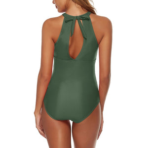 Halter Sleeveless Stretchy Bodycon Swimsuit YS20012 32 in wolddress