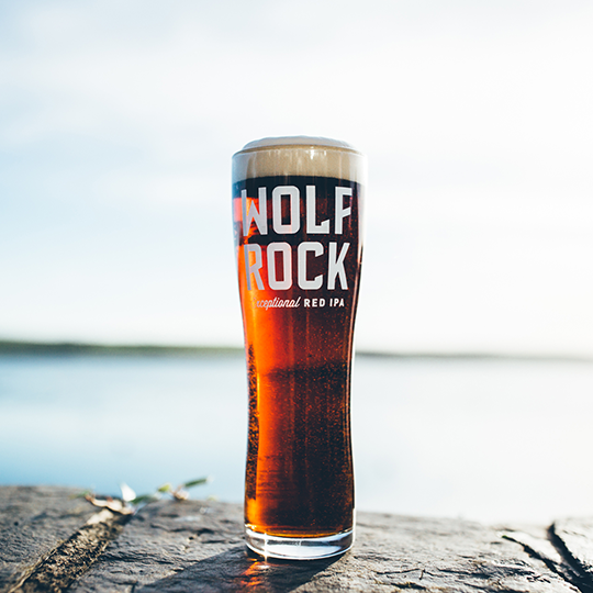 Sharp's Wolf Rock Pint Glass