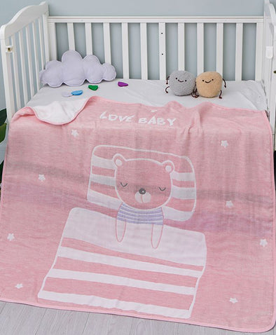 Young Curves Sweet Baby Bear Children Blanket