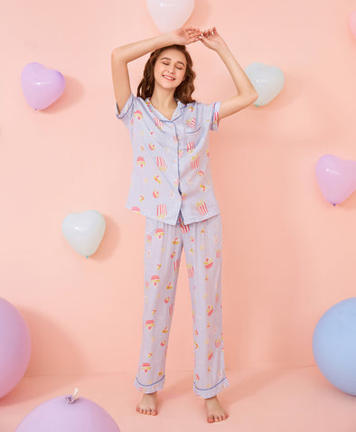 Lovely Popcorn Pajama Set