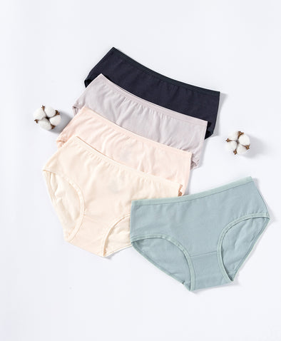 Soft Neutrals Cotton 5-pack Hipster Panties