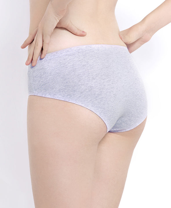 Cotton Contrast Seamless Panties - Young Hearts Lingerie