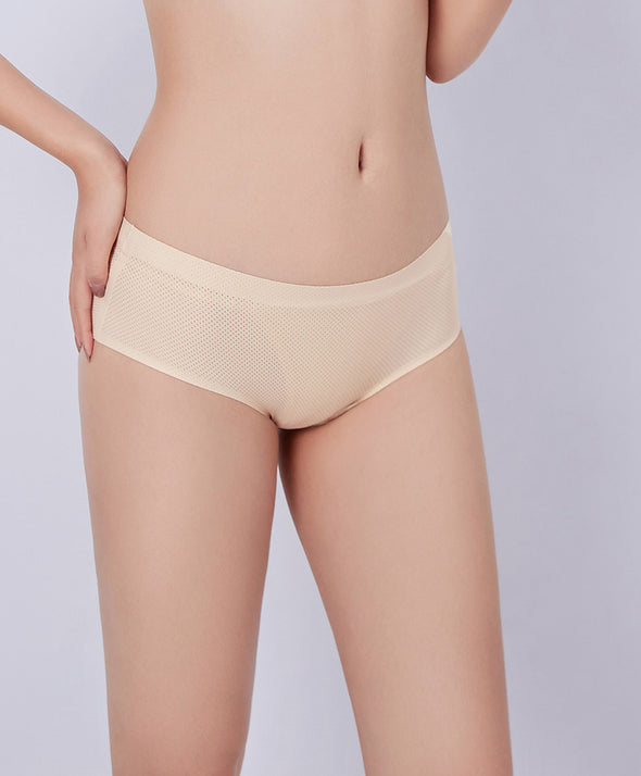 Mesh Seamless Hipster Panties - Young Hearts Lingerie