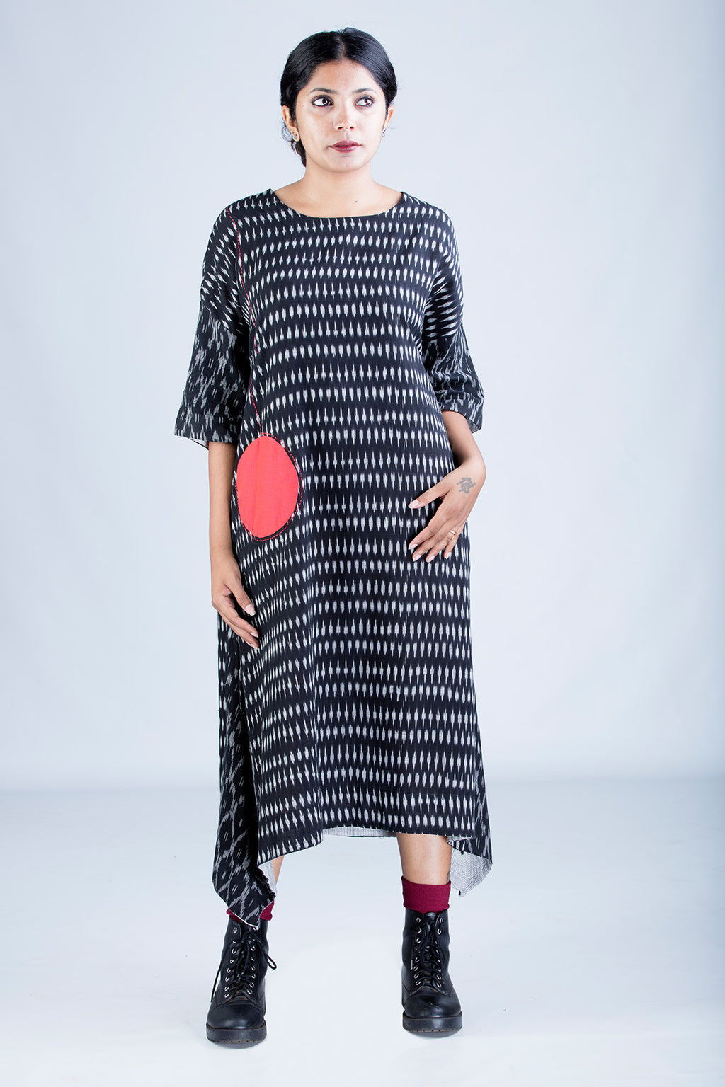 Black Ikat Dress - KARL - Upasana Design Studio