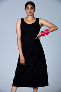 Black Organic cotton Dress - NIKITA