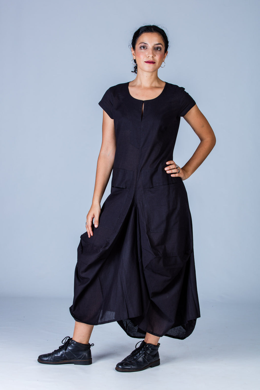 Black Organic cotton Dress - JESSICA