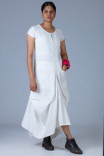 White Khadi Dress - JESSICA