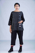 Black Ikat Top - PARI