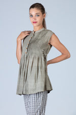 Tulsi dyed Organic cotton Top - SANGEETHA