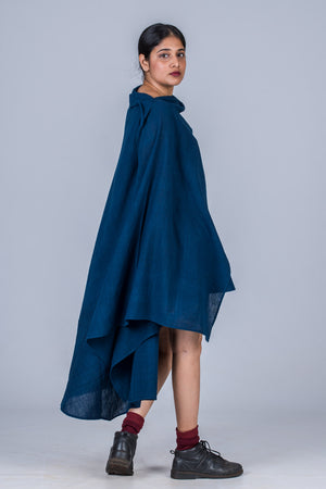 Natural Indigo Khadi Top - JHIRIN - Upasana Design Studio