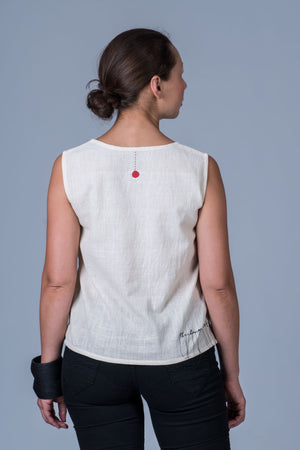 Off-White Desi cotton Khadi Women Top - SIMPLE
