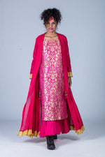 Kimkhab Dress Fine Cotton Jacket Set Bhavya