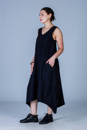Black Organic cotton Dress - INES