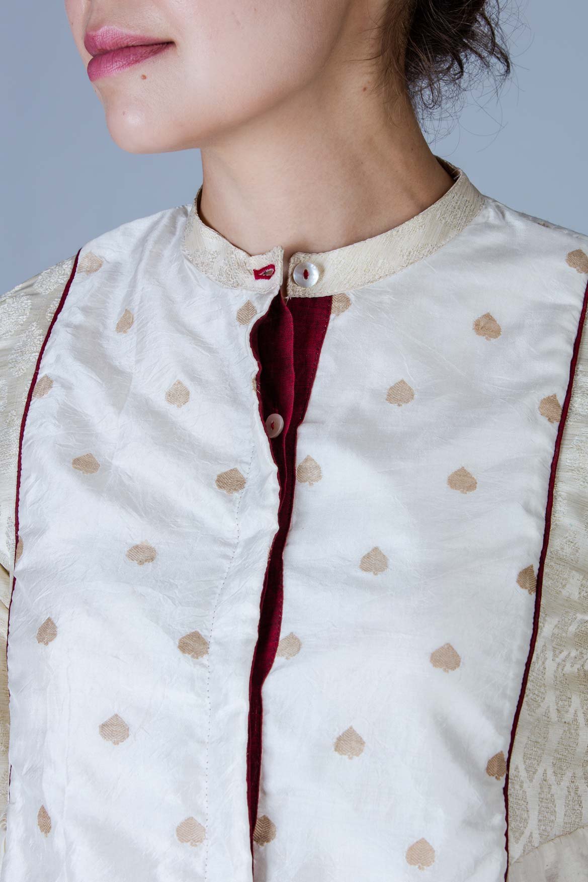 Composed silk Jacket Top - KEDIYA - Upasana Design Studio