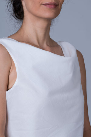 White Organic cotton Top - COWL