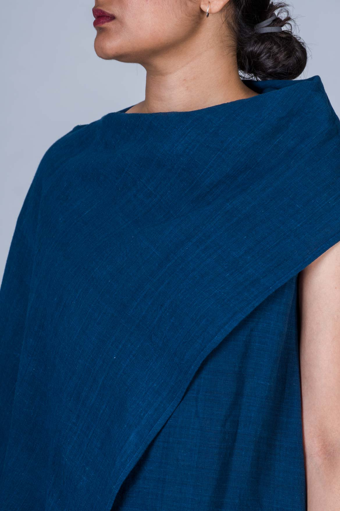 Natural Indigo Khadi Dress/Top - JHIRIN