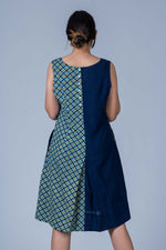 Indigo Organic cotton Hand block printed Dress - NIKITA