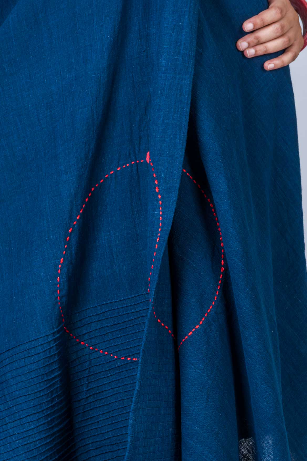 Natural Indigo Khadi Top - JHIRIN