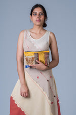 Off White Upcycled Dress - AARNAVI - Upasana Design Studio