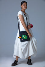 White Khadi Dress with UPASANA Bag - JESSICA